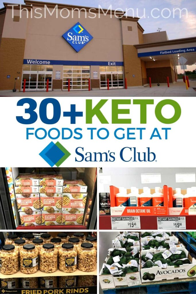 Collage of sam's club products with text overlay