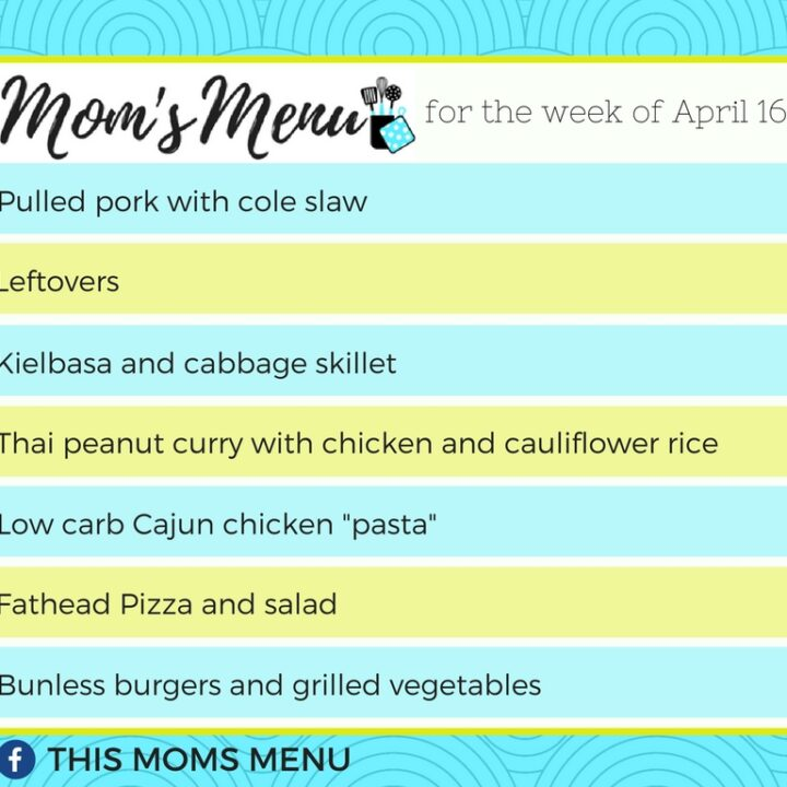 Low Carb, keto Family Friendly meal plan