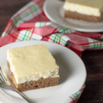 Gingerbread Cheesecake Bars | Low Carb, Gluten Free