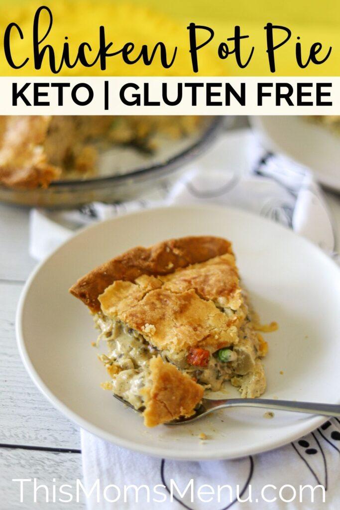 Freezer friendly keto chicken pot pie pinterest image