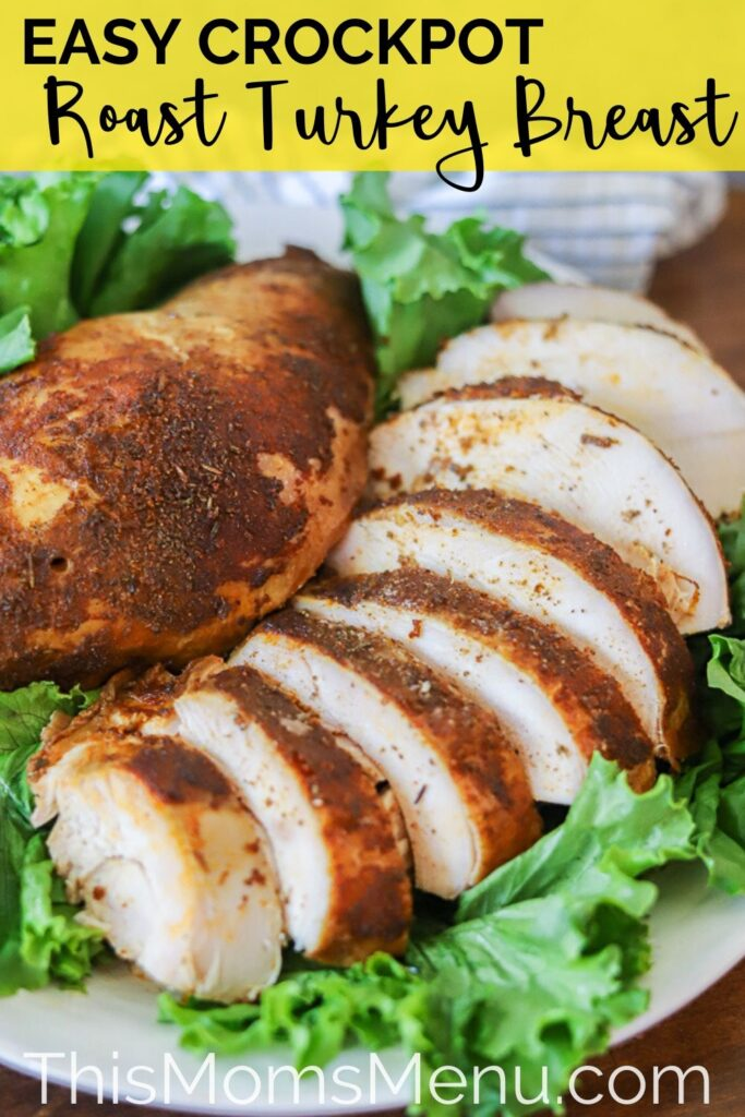 slow cooker turkey breast pinterest image