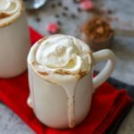 Low carb hot chocolate made with heavy cream